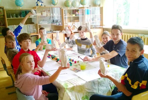 Творческое занятие для воспитанников ГУ «Вспомогательная школа интернат № 7»