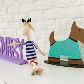 Мастер-класс «Роспись деревянных собак»