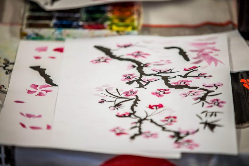 Японская живопись Суми-Э
