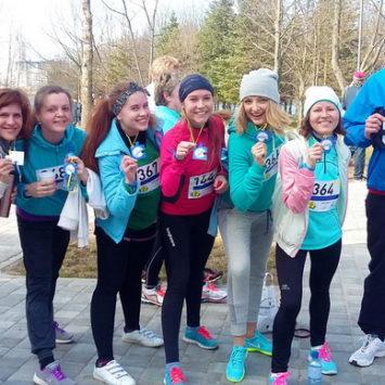 Семейный центр Катерины Ковровой принял участие в забеге