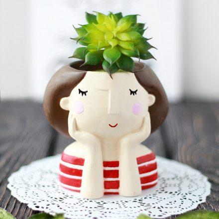 Подарочный набор «Кашпо «Девочка»