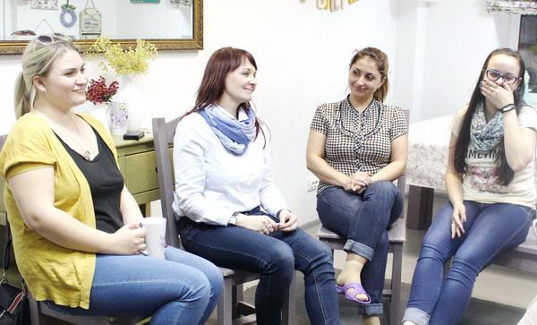 Предпоследняя встреча участниц проекта «НеВЕСомость-5» с психологом