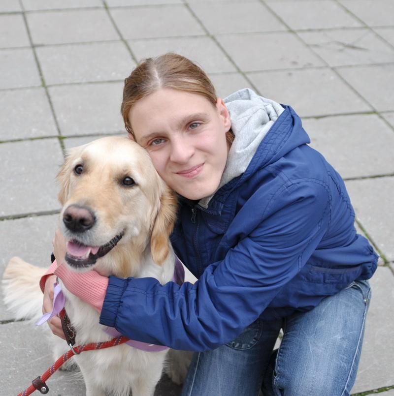 Развивающее занятия с собаками-терапевтами в ГУО «Вспомогательная школа-интернат № 7»