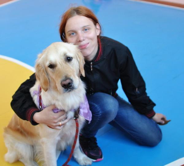 Занятия с собаками-терапевтами